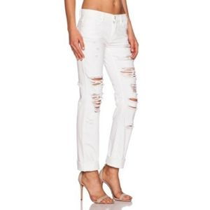 NWT Blank NYC The Galaxy White Distressed Jeans 31